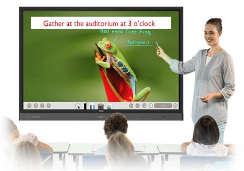 Ecran plat interactif 65 pouces RP6501K benq triaxe
