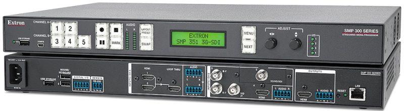 Extron - SMP 351 3G-SDI :Processeur de streaming multimédia H.264 Version avec entrée 3G-SDI 80 Go SSD
