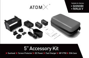 Atomos Kit 5 accessoires vue 1