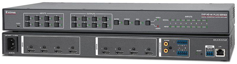Gamme DXP HD 4K PLUS Grilles de commutation HDMI 4K/60 avec désembeddage audio