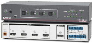 Triaxe Extron - SW4 HD 4K - Sélecteur HDMI quatre entrées
